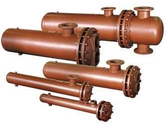 Picture of DS101084A-CI-150/150 , DOUBLE WALL STEAM TO WATER U-TUBE HEAT EXCHANGER