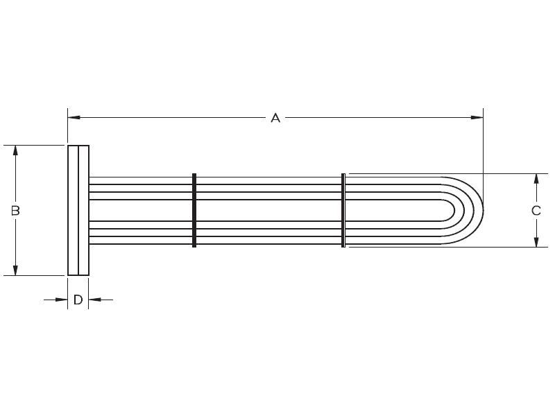 Picture of 6601-0520 , STEAM TO WATER DOUBLE WALL U-TUBE HEAT EXCHANGER REPLACEMENT TUBE BUNDLES