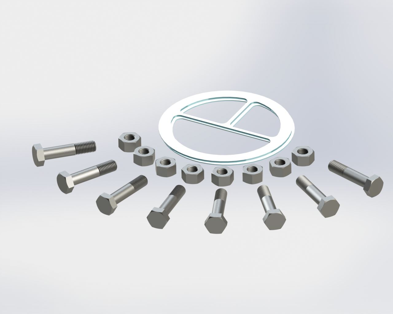 Picture of 6224-919 , DW HEADER KIT (GASKETS, NUTS & BOLTS)