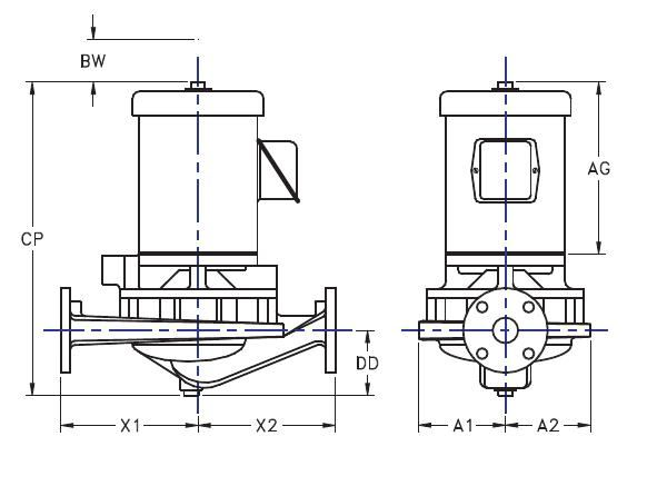 Picture of 1.5x1.5x7-HTV2g-3 , HTV2G IN-LINE CENTRIFUGAL PUMPS - 3500 RPM