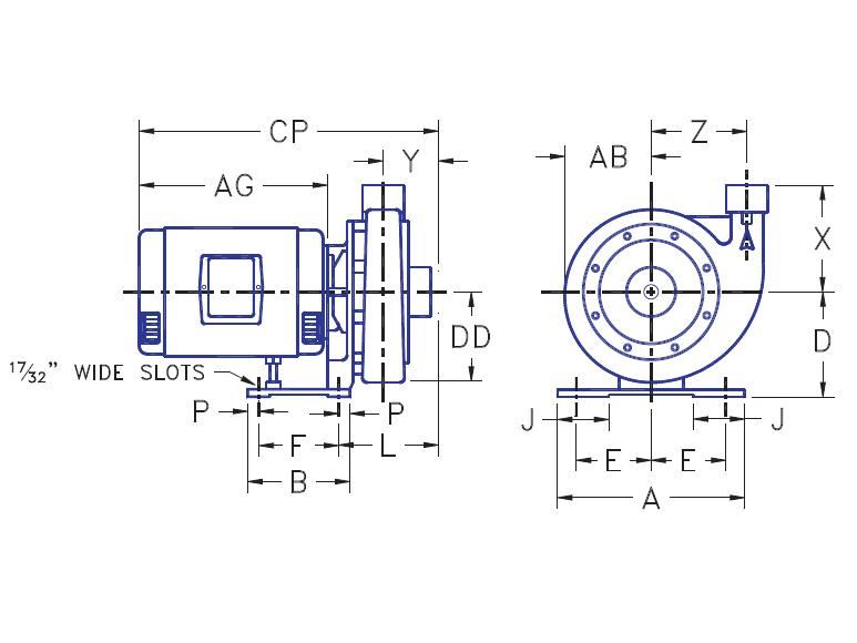 Picture of 1.25x1.5x7-PC2g-1.5 , PC2G CLOSE COUPLED PUMPS - 1750 RPM