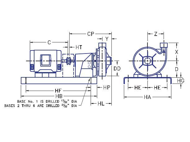 Picture of 1.25x1.5x7-HPFe300-7.5 , HPFE300 BASE MOUNTED PUMPS - 3500 RPM