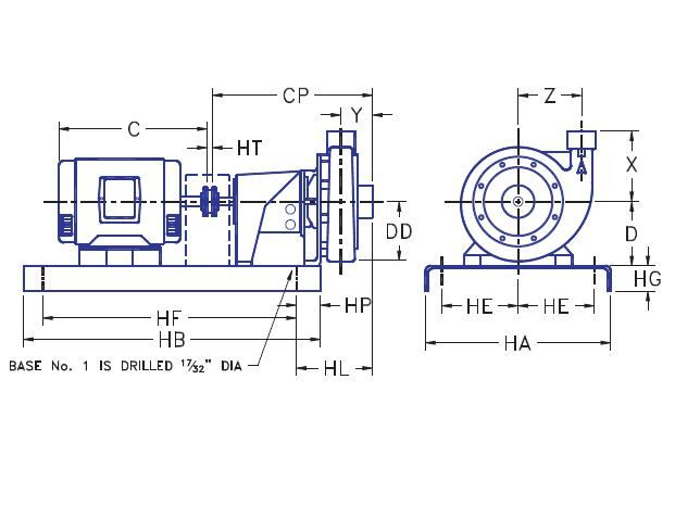 Picture of 1.25x1.5x7-PF2g-1 , PF2G BASE MOUNTED PUMPS - 1750 RPM