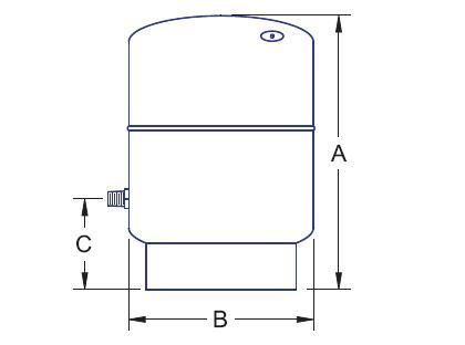 1441-090 , N & NV SERIES EXPANSION TANKS (NON-ASME)