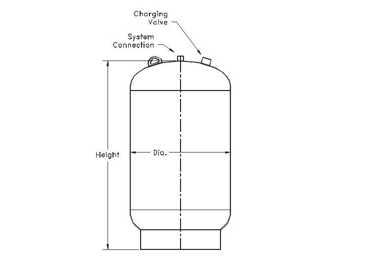 Picture of 143-327 , TTA SERIES THERMAL EXPANSION TANKS (ASME)