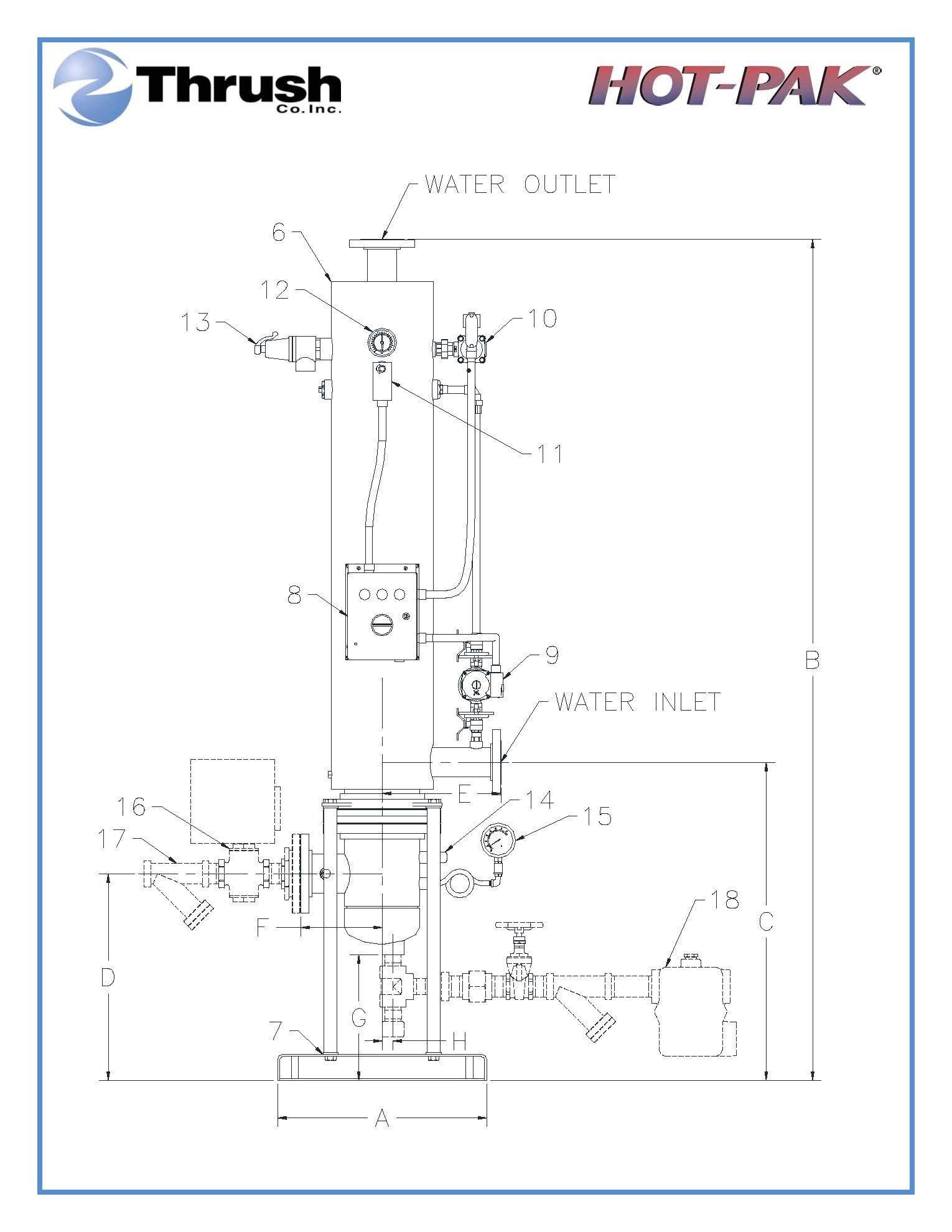 Picture of DSVE1242 , HOT-PAK™ SEMI-INSTANTANEOUS WATER HEATER-DSVE SERIES