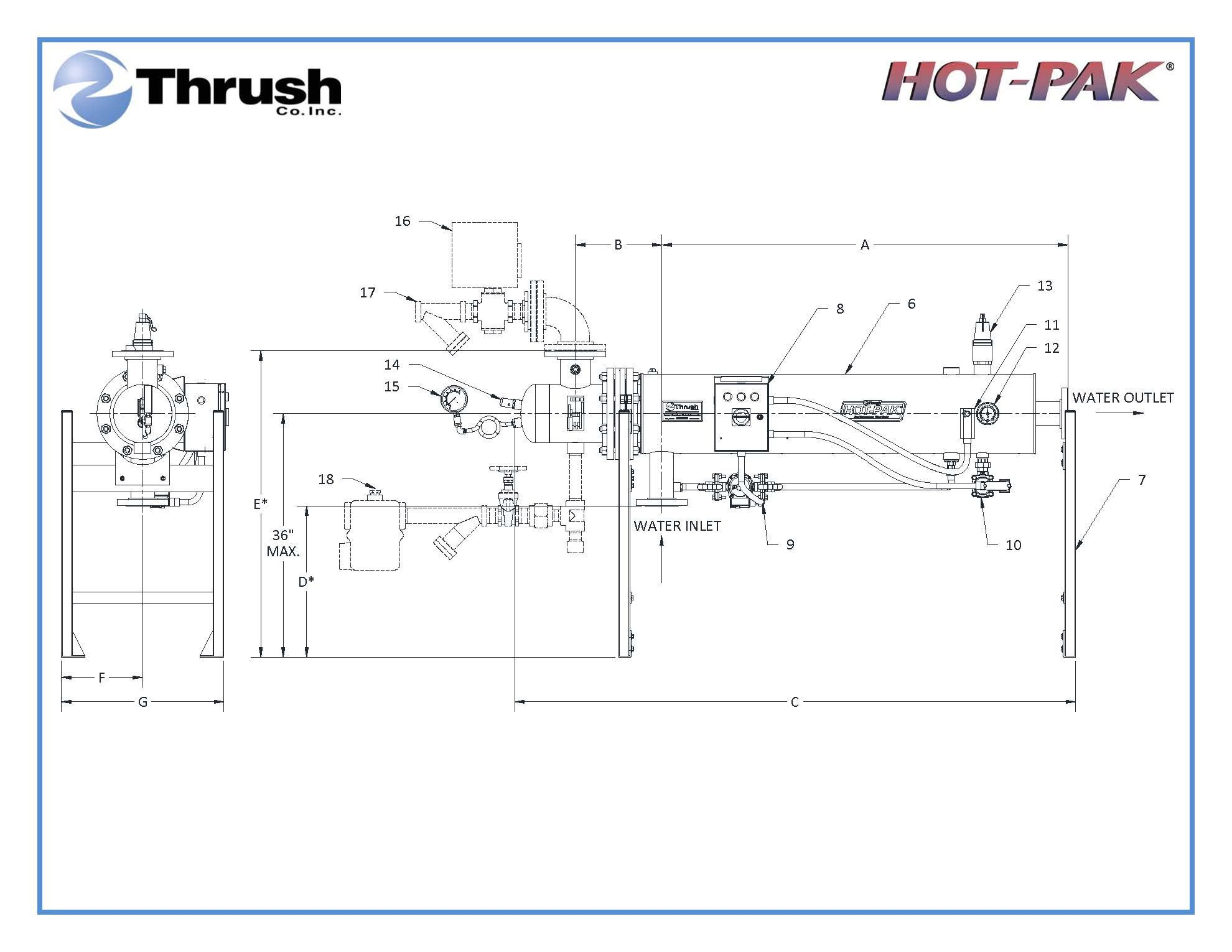 Picture of DSHE832 , HOT-PAK™ SEMI-INSTANTANEOUS WATER HEATER-DSHE SERIES