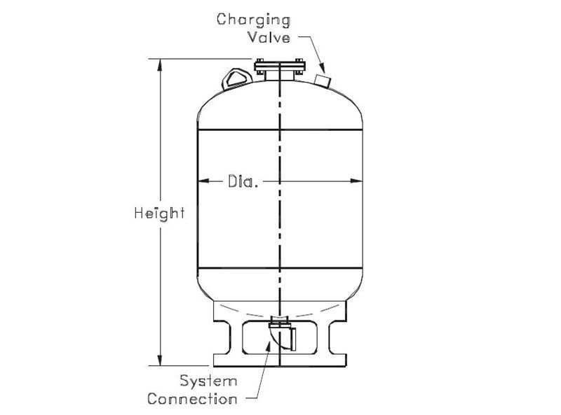 Picture of 183-25 , FXA SERIES HYDROPNEUMATIC TANKS (ASME)