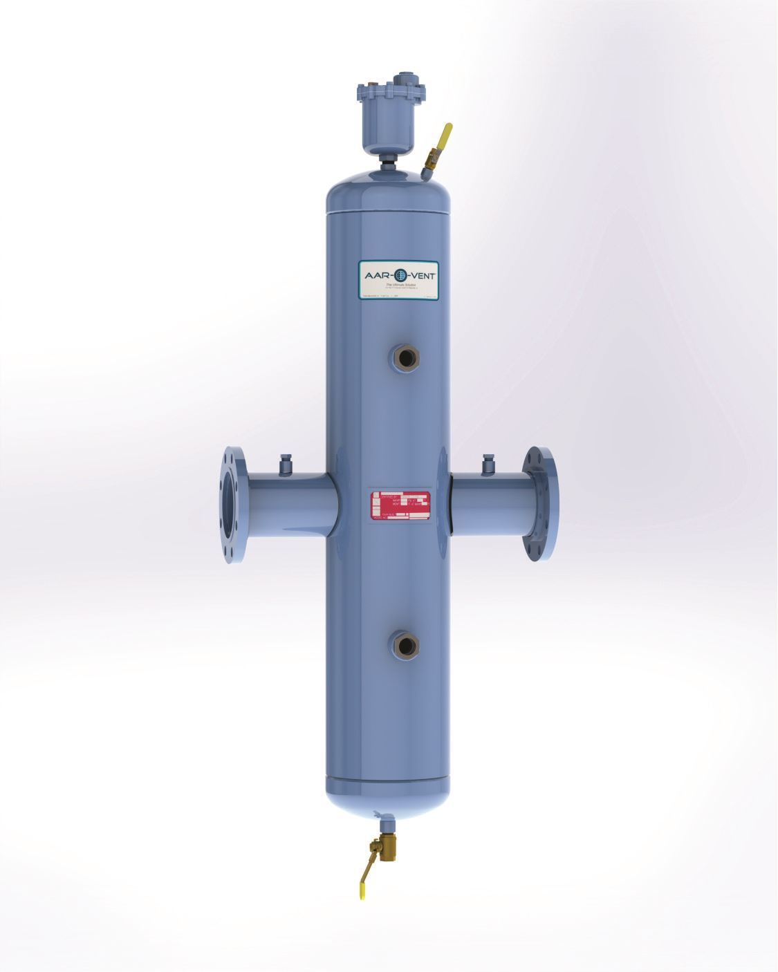 "Picture of TBHF-030-W, Aar-O-Vent™ - 3"" HVF Series Air Eliminator & Dirt Separator, High Velocity, Fixed Head Cover, With Options"