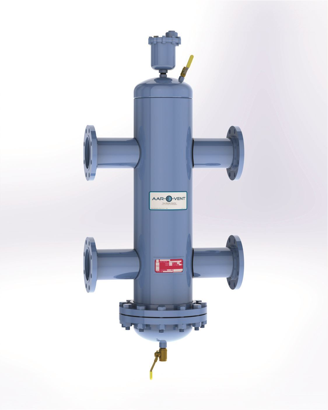 "Picture of T4SR-030-X , Aar-O-Vent™ - 3"" HSR Series Hydraulic Separator, Standard Velocity, Removable Head Cover, Without Options"