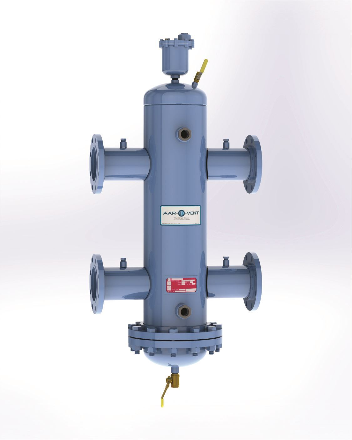 "Picture of T4SR-080-W , Aar-O-Vent™ - 8"" HSR Series Hydraulic Separator, Standard Velocity, Removable Head Cover, With Options"